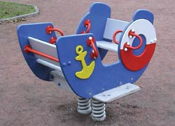 """4122 - Качалка на пружине """"Кораблик"""""""